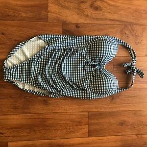 Merona Swim - Blue Checkered Retro One Piece Swimsuit